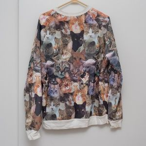 Urban Outfitters Cats All Over Sweatshirt